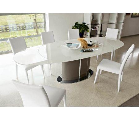 Стол ODYSSEY серо-коричневый (P48) / стекло экстра белое (GXW)Стекло + дерево<br>Стол рассчитан на комфортное размещение от 6 до 10 персон.<br>