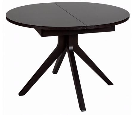 Стол OREGON венге (P128 bch) / стекло темно-коричневое (GK)Стекло + дерево<br><br>