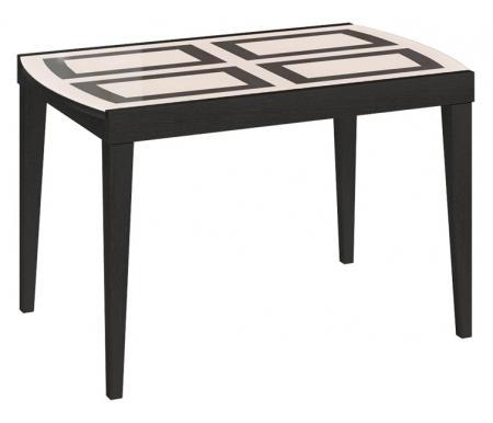 Стол Танго Т2 с рисунком С-362Стекло + дерево<br>Современный стильный стол Танго Т2. Нежное сочетание цветов, древесной текстуры и стекла украсит любой интерьер. Ножки и подстолье изготовлены из массива бука. Столешница - ЛДСП, стекло с рисунком.<br><br>Длина: 120 см (раскладывается до 174 см)<br>Ширина: 76 см<br>Высота: 75 см<br>Материал каркаса: массив бука<br>Цвет каркаса: венге<br>Материал столешницы: ЛДСП, стекло<br>Цвет столешницы: стекло с рисунком<br>Вес: 44 кг