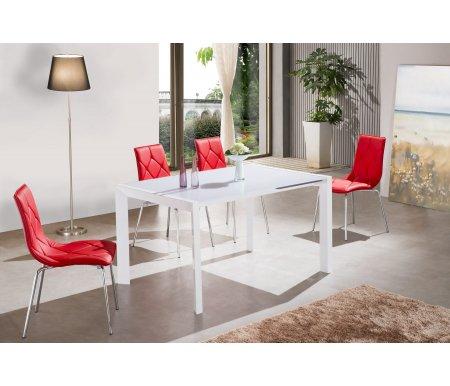 Стол 2016Стеклянные столы<br><br><br>Длина: 140 см (раскладывается до 188 см)<br>Ширина: 90 см<br>Высота: 75 см<br>Материал столешницы: закаленное стекло<br>Цвет столешницы: белый