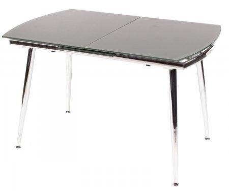Стол 6230 серыйСтеклянные столы<br>Каркас стола 6230 изготовлен из хромированного металла, столешница выполнена из закаленного серого стекла. <br>За разложенным столом можно разместить до 8 персон.<br><br>Длина: 120 см (раскладывается до 150 см)<br>Ширина: 80 см<br>Высота: 75 см<br>Материал каркаса: хромированный металл<br>Материал столешницы: закаленное стекло<br>Цвет столешницы: серый