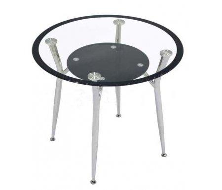 Стол A603 BLACK LINEСтеклянные столы<br><br><br>Размер: 80 см х 80 см<br>Размер: 90 см х 90 см<br>Высота: 75 см<br>Материал каркаса: хромированный металл<br>Материал столешницы: каленое стекло