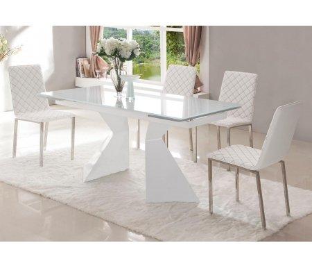 Стол CT992Стеклянные столы<br><br><br>Длина: 160 см (раскладывается до 220 см)<br>Ширина: 90 см<br>Высота: 75 см<br>Материал каркаса: металл<br>Материал столешницы: закаленное стекло<br>Цвет столешницы: ультра-белое стекло