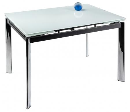 Стеклянные столы Cubo 120 белый  Стол раскладной Woodville