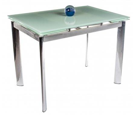 Стол раскладной S 302T белыйСтеклянные столы<br>Ширина между ножками 49,3 см, длина между ножками 85,2 см.<br>