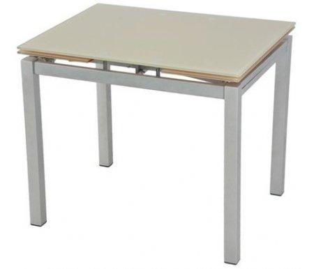 Стол S64 (90) beige / silverСтеклянные столы<br>Стол раскладывается до 150 см, что позволяет с комфортом разместиться всем гостям.<br>
