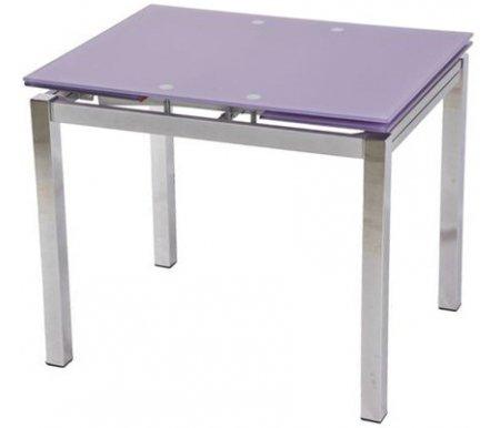 Стол S64 (90) light purple / хромСтеклянные столы<br>Стол раскладывается до 150 см, что позволяет с комфортом разместиться всем гостям.<br>