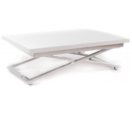Купить Стол-трансформер Levmar, Compact GL белый гялнец