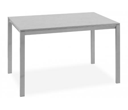 Купить Стол-трансформер Pranzo, Master алюминий AM / светло-серый мрамор MALG, алюминий / светло-серый мрамор