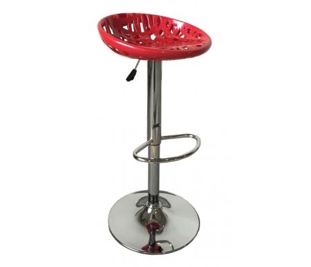 Барный стул Criss-Cross красныйБарные стулья<br>Стул снабжен поворотно-подъемным механизмом газ-лифт.<br>