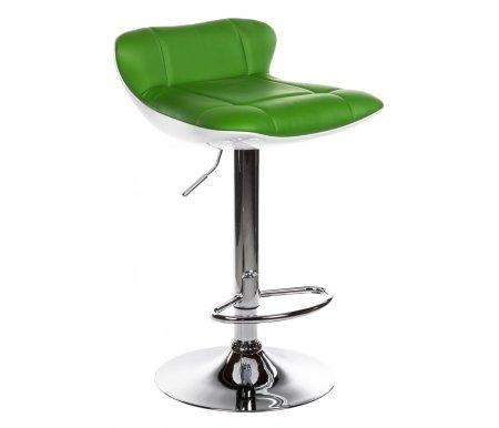Барный стул Domus зеленыйБарные стулья<br>Нижняя часть сиденья выполнена ABS-пластика.<br> Высота спинки: 13 см.<br>