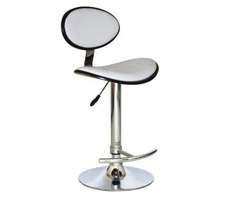 Барный стул JY1009Барные стулья<br><br><br>Ширина: нет данных<br>Глубина: нет данных<br>Высота спинки: нет данных<br>Высота сиденья: нет данных<br>Материал каркаса: хромированный металл<br>Материал сиденья и спинки: кожа, дерево<br>Цвет обивки: белый