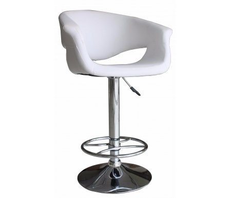 Барный стул JY1023Барные стулья<br><br><br>Ширина: нет данных<br>Глубина: нет данных<br>Высота спинки: нет данных<br>Высота сиденья: нет данных<br>Материал каркаса: хромированный металл<br>Материал сиденья и спинки: кожа<br>Цвет обивки: белый
