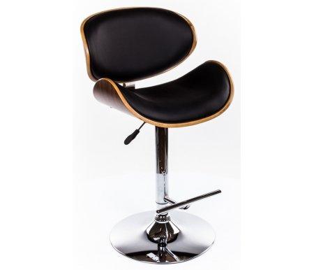 Барный стул JY1076Барные стулья<br><br><br>Ширина: нет данных<br>Глубина: нет данных<br>Высота спинки: нет данных<br>Высота сиденья: нет данных<br>Материал каркаса: хромированный металл<br>Материал сиденья и спинки: кожа, дерево<br>Цвет обивки: черный