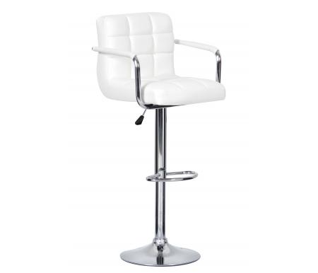 Барный стул Kruger Arm T-808F-1 белыйБарные стулья<br><br>