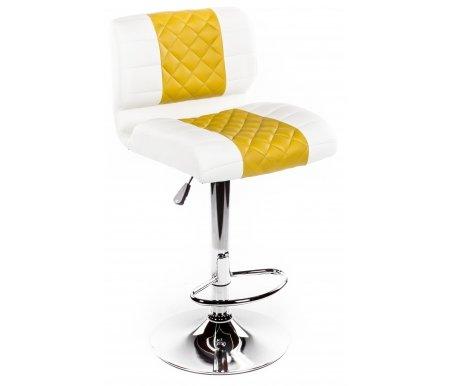 Барный стул LaraБарные стулья<br><br><br>Ширина: 43 см<br>Глубина: 57 см<br>Глубина сиденья: 40 см<br>Высота по спинке: от 90 см до 111,5 см<br>Высота по сиденью: от 62 см до 83,5 см<br>Материал каркаса: хромированный металл<br>Материал сиденья и спинки: кожзаменитель<br>Цвет: белый / хаки<br>Механизм подъема: есть