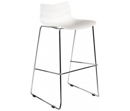 Барный стул LEAF-06Барные стулья<br>Удобный и современный барный стул LEAF-06 подходит для использования в гостиных и кухнях. Представлен в двух цветовых вариантах.<br><br>Цвет: Белый<br>Цвет: Синий<br>Ширина: 48 см<br>Глубина: 49 см<br>Высота: 100 см<br>Материал каркаса: хромированный металл<br>Материал сиденья и спинки: пластик<br>Цвет: белый, синий