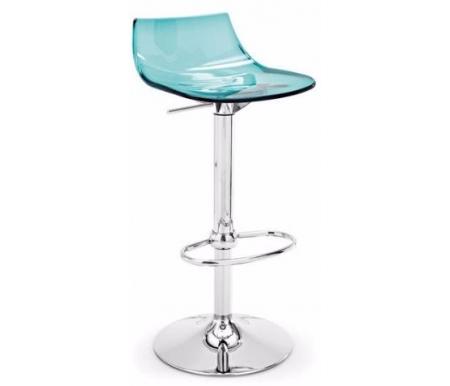 Барные стулья Led CB/1405 хром (P77) / аквамариновый прозрачный (P296)  Барный стул Connubia&Calligaris