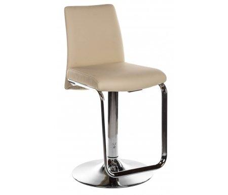 Барный стул NINA/SG CR хром SX00 бежевыйБарные стулья<br><br><br>Ширина: 42 см<br>Глубина: 49 см<br>Высота спинки: от 87 см до 110 см<br>Высота сиденья: от 57 см до 80 см<br>Материал каркаса: металл<br>Цвет каркаса: хром CR<br>Материал обивки: экокожа<br>Цвет обивки: SX00 бежевый
