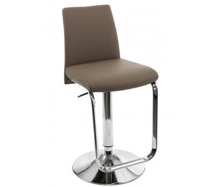 Купить Барный стул Pranzo, Nina/SG хром (CR) / серо-коричневый (SM57), Италия