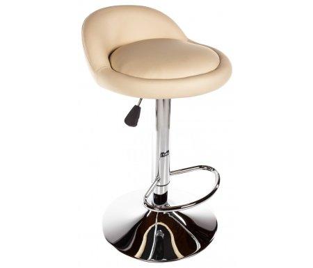 Барный стул Round бежевыйБарные стулья<br>Диаметр сиденья 40 см.<br>Высота спинки от сиденья 14 см.<br>