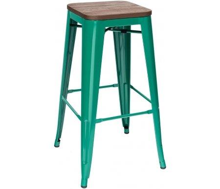 Барный стул Стул Груп Тиоли / TOLIX аквамарин / темное дерево фото