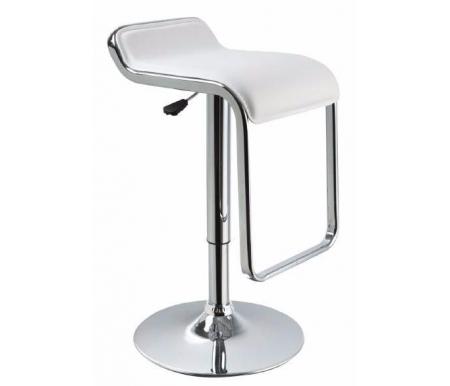 Здесь можно купить барный Crack CColl T-100G-9 white leather  Стул Caffe Collezione Барные стулья