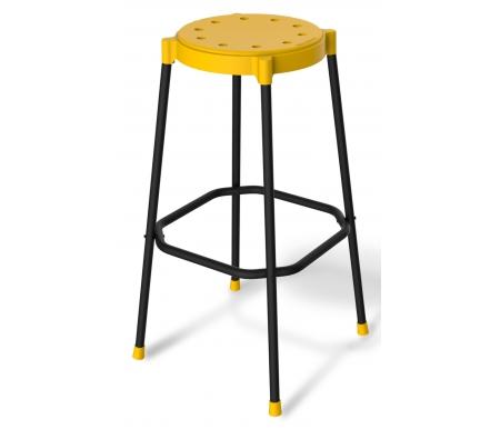 Стул барный SHT-S48 черный муар / желтыйБарные стулья<br>Сиденье выполнено из полипропилена толщиной 2,5 мм.<br> <br>Размер сиденья: 35 см х 0,45 см (D - 30 см).<br> <br>Каркас выполнен из металлической трубы диаметром 20 мм и покрыт порошковой краской. Толщина стенки трубы 1,5 мм.<br> <br>Максимальная нагрузка - 100 кг.<br>