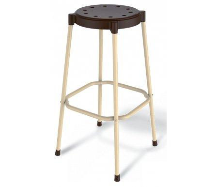 Стул барный SHT-S48 шоколадный / ванильБарные стулья<br>Сиденье выполнено из полипропилена толщиной 2,5 мм.<br> <br>Размер сиденья: 35 см х 0,45 см (D - 30 см).<br> <br>Каркас выполнен из металлической трубы диаметром 20 мм и покрыт порошковой краской. Толщина стенки трубы 1,5 мм.<br> <br>Максимальная нагрузка - 100 кг.<br>