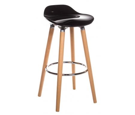 Стул барный Tucker черныйБарные стулья<br>Стул имеет деревянный каркас с хромированной подставкой для ног. <br>Сиденье сделано из качественного пластика ABS.<br> <br>Допустимая нагрузка не более 100 кг.<br>