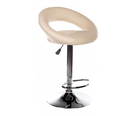 Стул барный Young бежевыйБарные стулья<br>Имеется регулировка высоты (газлифт) 77 см - 97 см. <br>Допустимая нагрузка 100 кг.<br> <br> <br>  <br> <br> <br>Диаметр основания: 41 см.<br>