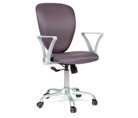 Компьютерное кресло 360 Ткань серая (15-13)Компьютерные кресла<br>Материал подлокотников: пластик.<br> <br>Материал крестовины:металл с напылением под серебро.<br> <br>Материал обивки: ткань.<br> <br>Механизм качания: есть.<br>