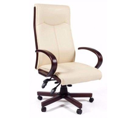 Компьютерное кресло 411 бежевое из экокожиКомпьютерные кресла<br>Компьютерное кресло 411 комплектуется: <br><br> - механизмом регулировки жесткости качания; <br><br> - механизмом регулировки кресла по высоте; <br><br> - механизмом регулировки наклона спинки; <br><br> - механизмом регулировки наклона кресла. <br><br> <br> <br>  - материал подлокотников дерево.<br> <br>  - материал крестовины металл с деревянными накладками.<br>