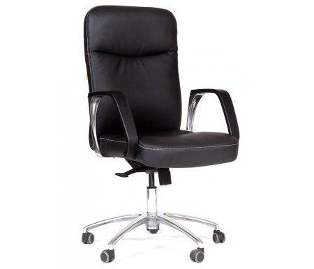 Компьютерное кресло 465Компьютерные кресла<br>Компьютерное кресло 465 комплектуется: <br><br> - механизмом регулировки жесткости качания; <br><br> - механизмом регулировки кресла по высоте; <br><br> - механизм регулировки наклона спинки. <br><br> <br>Материал подлокотников:металл с накладками из пластика.<br><br>Материал крестовины: хромированный металл.<br><br>Материал обивки: экокожа.<br><br>Механизм качания: есть.<br>