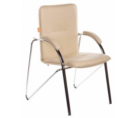 Компьютерное кресло 850 бежевое из экокожиКомпьютерные кресла<br>Материал подлокотников: металл с накладками из экокожи.<br> <br>Полозья хромированный металл.<br>