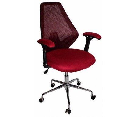 Компьютерное кресло 9666F-2С красноеКомпьютерные кресла<br>Мягкий наполнитель сиденья - поролон. <br>Механизм качания - топган.<br> <br>Материал подлокотников:сетчатая ткань.<br> <br>Материал крестовины:хромированный металл.<br> <br>Материал обивки:сетчатая ткань.<br> <br>Механизм качания: есть.<br> <br>Вес: 18 кг.<br>