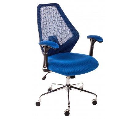 Компьютерное кресло 9666F-2С темно-cинееКомпьютерные кресла<br>Мягкий наполнитель сиденья - поролон. <br>Механизм качания - топган.<br> <br>Материал подлокотников:сетчатая ткань.<br> <br>Материал крестовины:хромированный металл.<br> <br>Материал обивки:сетчатая ткань.<br> <br>Механизм качания: есть.<br> <br>Вес: 18 кг.<br>