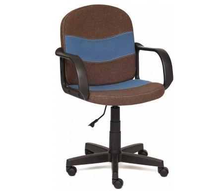 Купить Компьютерное кресло Тетчер, Baggi 3М7-147 / С24 коричневое / синее, Россия, коричневый / синий