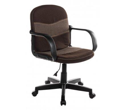 Компьютерное кресло Baggi (Багги) коричневый / бежевыйКомпьютерные кресла<br>- Материал крестовины: Пластик<br>   <br>    - Материал обивки: Ткань<br>   <br>    - Механизм качания: без механизма качания кресла<br>   <br>    - Подголовник: Без подголовника<br>   <br>    Максимальная высота - 109 см.<br>