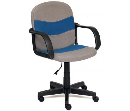 Купить Компьютерное кресло Тетчер, Baggi С27 / С24 серое / синее, Россия, серый / синий