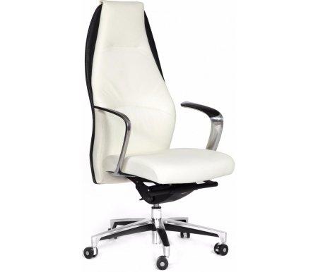 Компьютерное кресло Chairman Basic кожа белаяКомпьютерные кресла<br>В данной модели присутствует механизм качания с синхронным отклонением сидения и спинки 1:3, и фиксацией кресла в нескольких положениях.<br>