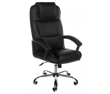 Компьютерное кресло Bergamo (Бергамо) хром черный (36-6)Компьютерные кресла<br><br>