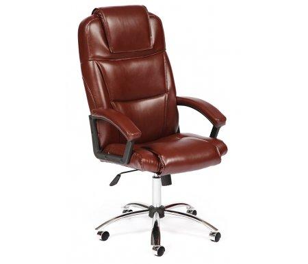 Купить Компьютерное кресло Тетчер, Bergamo (Бергамо) хром коричневый 2 tone