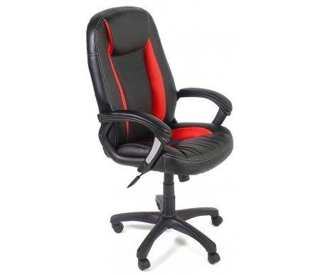 Компьютерное кресло «Бриндиси» (Brindisi ST) черное / красное с черной крестовинойКомпьютерные кресла<br>-Кресло «Бриндиси» и«Бриндиси СТ»идеально подходит людям, которые проводят много времени за компьютером и чувствуют напряжение в спине.<br> <br>  -Мягкое сидение и спинка позволяет достичь максимальное удовольствие и расслабление.<br> <br>  -Помимо повышенного комфорта, кресло поможет вам подчеркнуть Ваш вкус.<br> <br>  - Материал крестовины: Пластик<br> <br>  - Материал обивки: Экокожа<br> <br>  - Материал подлокотников: Пластик<br> <br>  - Механизм качания: с фиксацией в крайних положениях<br> <br>  - Подголовник: Без подголовника<br> <br>  Максимальная высота стула - 135 см.<br>