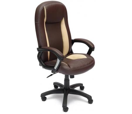 Купить Компьютерное кресло Тетчер, Brindisi ST 36-36 / 36-34 / 06 коричневое / бежевое / коричневое перфорированное, Россия, коричневый / бежевый