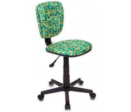 Купить Компьютерное кресло Бюрократ, Бюрократ CH-204NX/Pencil-GN зеленые карандаши, Россия