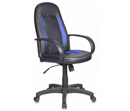 Купить Компьютерное кресло Бюрократ, Бюрократ CH-826 / B+BL черное / синее, Россия, черный / синий