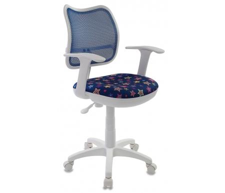 Бюрократ CH-W797/BL/Star-BL синее  Компьютерное кресло Бюрократ