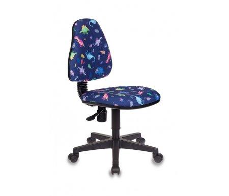 Купить Компьютерное кресло Бюрократ, Бюрократ KD-4/Dino-BL синие динозаврики