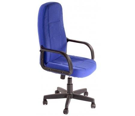 Компьютерное кресло CH747 синий, тканьКомпьютерные кресла<br>-Кресло CH747 идеально подойдет людям, которые проводят много времени за компьютером и чувствуют напряжение в спине<br> <br>-Система повышенной эргономичности фиксирует положение спины в правильном положении, что позволяет позвоночнику испытывать наименьшее напряжение даже при длительных нагрузках<br> <br>- Материал крестовины: Пластик<br>  <br>  - Материал обивки: Ткань<br> <br>  - Материал подлокотников: Пластик<br> <br>  - Механизм качания:с фиксацией в крайних положениях<br> <br>  - Подголовник: Без подголовника.<br> <br>   <br>    <br>   <br> <br>  Максимальная высота стула - 131 см.<br>
